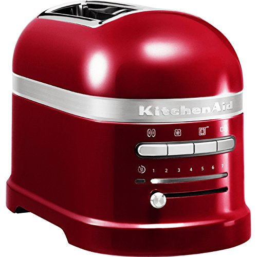 KitchenAid 5KMT2204ECA - Tostadora,1250 W, color rojo, 220 - 240 V, 50 - 60 Hz