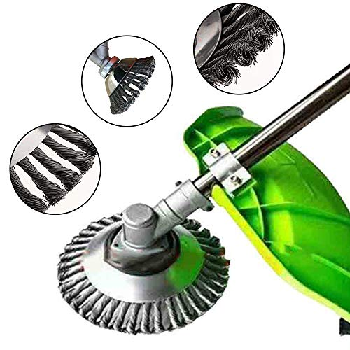 Why Choose Steel Wire Wheel Brush Grass Weed Trimmer Head Lawn Mower Brush Cutter for Grass/Ground/B...