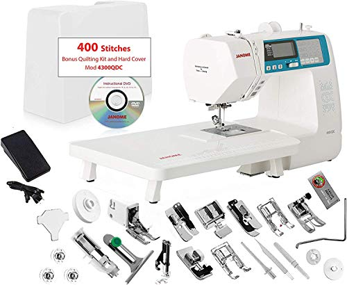 Janome 4300QDCB Sewing and Quilting Machine with Bonus Quilt Kit