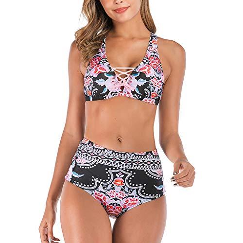 LHWY Bikini Tankinis Trikinis Trajes baño Dos Piezas