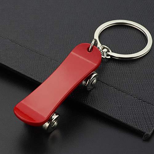 Wjlytf Metall Roller Skateboard Schlüsselbund Auto Schlüsselring Zubehör Schlüsselring Modetasche Charme Unisex Schmuck Geschenk-rot