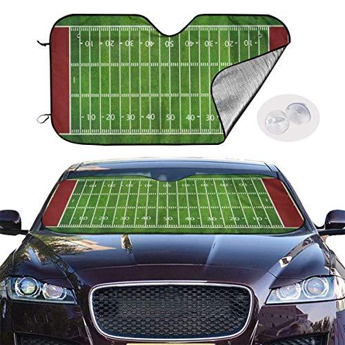 Y.Z.L. Auto Windschutzscheibe Sonnenblende American Football Field Auto Sonnenschutz für Frontscheibe Sommer Hitzeschutz UV Schutz 130x70cm
