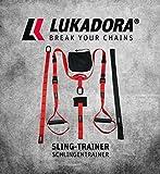LUKADORA Sling Trainer Set con Funzione di Fissaggio della Porta per Allenamento di Tutto Il Corpo a...