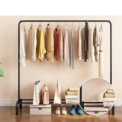 TEET Perchero de ropa rack rack de estilo poste percha de metal para interior ropa rack de almacenamiento de ropa para el hogar, dormitorio, armario, balcón, oficina interior