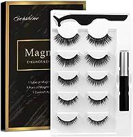 Magnetic Eyelashes Kit Magnetic Eyeliner With Magnetic Eyelashes Magnetic Lashliner For Use with Magnetic False Lashes...
