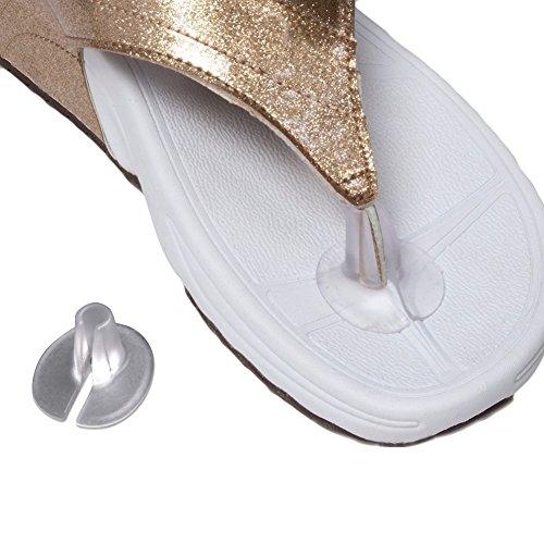 TININNA 5 Paar Gel Druckschutz Zehentrenner Flip Flop Gel Halbsohle Sohle für Zehensandale EINWEG Verpackung