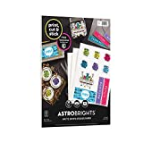 Astrobrights Sticker Paper, 8.5' x 11', 24 lb./89 GSM, Full Sheet, Matte Finish, White, 15 Sheets (91296) (91296-01)