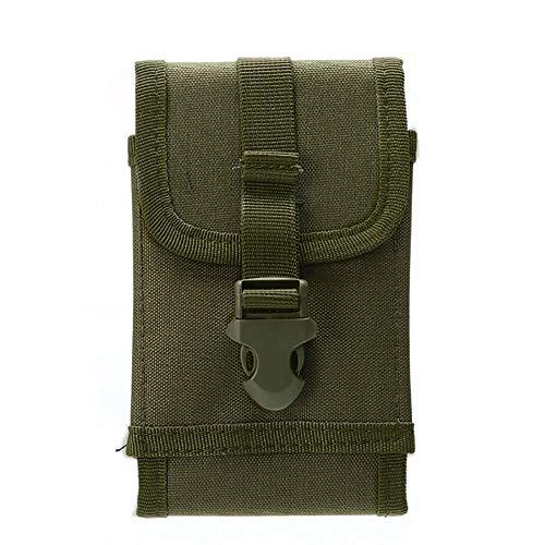 Kaimaily Tactique Militaire Molle Poche pour téléphone Portable, Sac de Taille Clip-on Holster en Nylon Vert Militaire