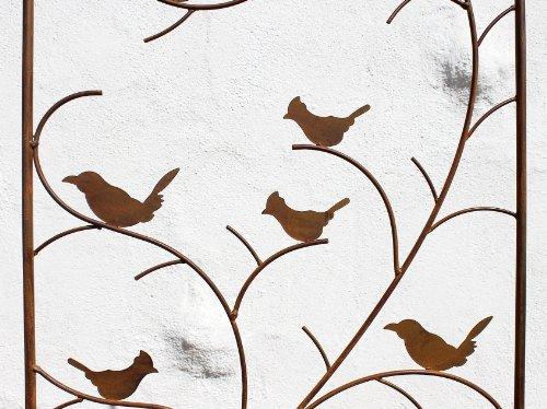 DanDiBo Rankhilfe mit Vögel 120705 Rankgitter aus Metall H-150 cm B-50 cm Kletterhilfe - 4