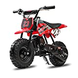 Fit Right FRP DB002 50 CC 2-Stroke Dirt Bike, Mini Kid Dirt Bike W/EPA Approved Gas Powered Engine for Kids Over Age 8, Upgrade Tires for Off-Road Dirt Bike