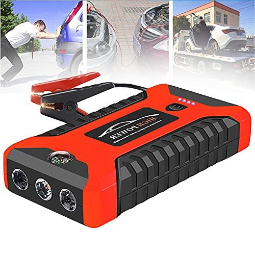 SUNWEII Arrancador de Baterias de Coche Diesel Cargador Baterias Coche portatil 20000mA 600A 12V Salida para automóvil Batería de Refuerzo Dispositivo de Arranque de Litio