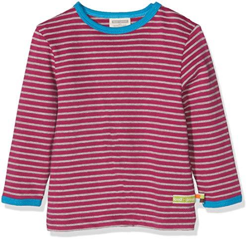 loud + proud Kinder-Unisex Shirt Ringel Langarmshirt, Violett (Orchid or), 68
