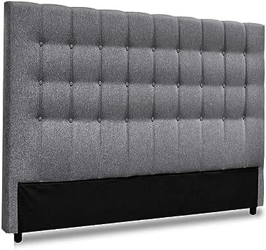 King Size Headboard, Fabric Upholsterd Bed Head, Grey