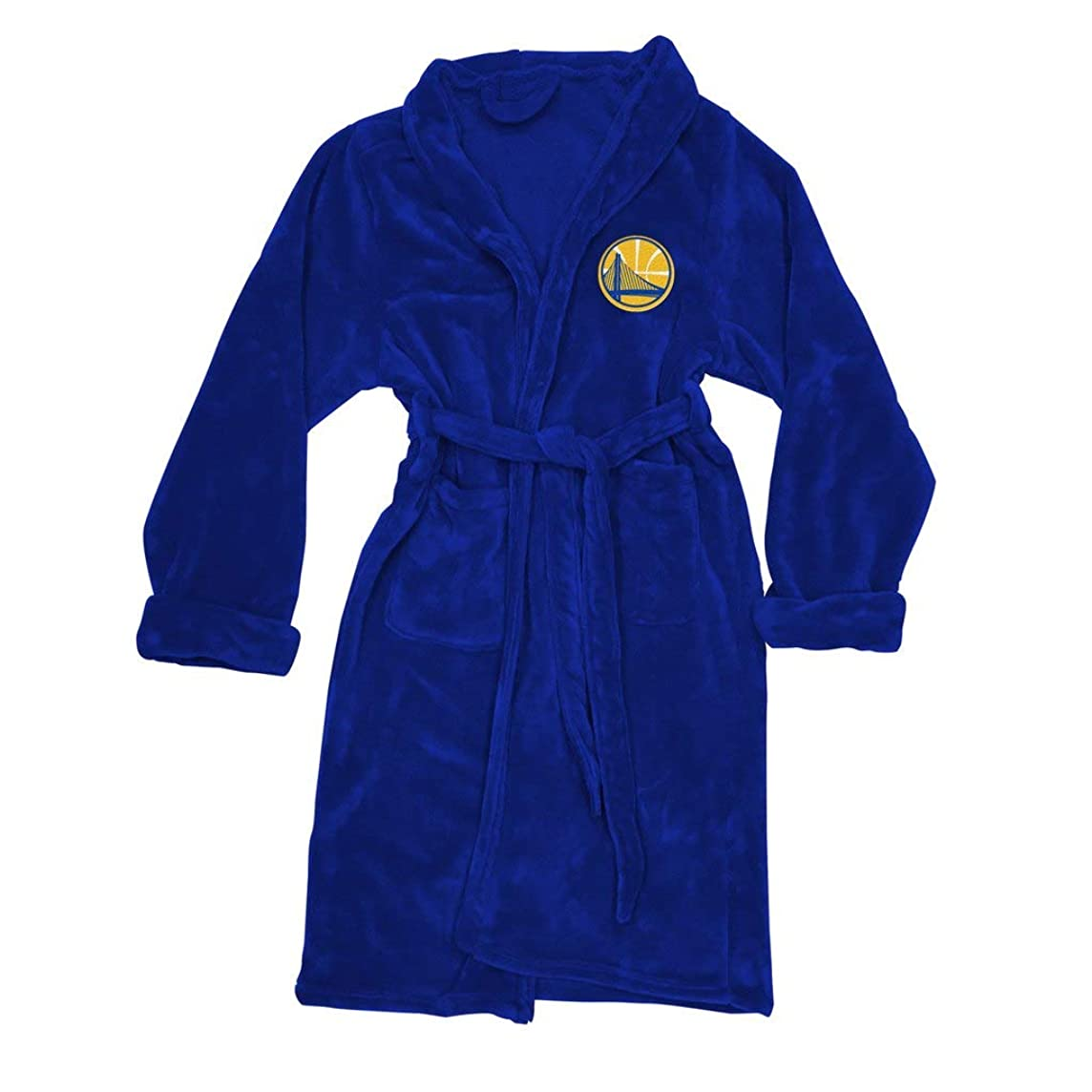 The Northwest Company Officially Licensed NBA Golden State Warriors Men's Silk Touch Lounge Robe, Large/X-Large