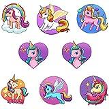 Beautiful Unicorn Small Cartoon Temporary Tattoos Kids Rainbow Pink Pony Horses Butterfly Flowers Stars Girls Children Birthday Party Favor Sticker Gifts
