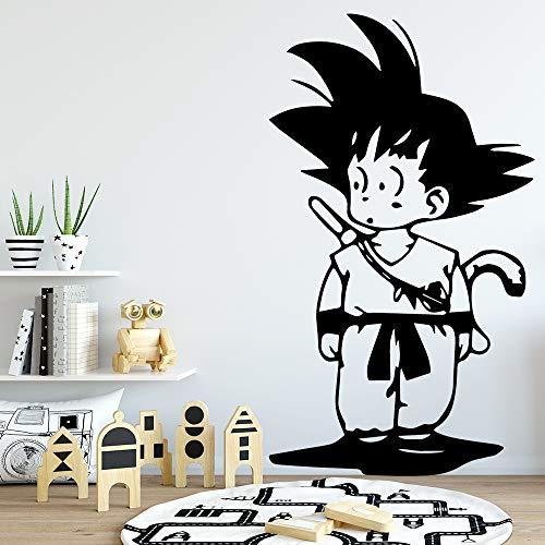 guijiumai Son Dragonball Etiqueta de la Pared decoración del hogar Accesorios para niños Habitaciones decoración Arte de la Pared Tatuajes Wallstickers Rojo 43 cm X 74 cm