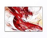Vos bilder24. di–Decorazione da parete XXL astratta gioco dei colori rosso su tela e telaio. Migliore qualità, fatto a mano in Germania., Tela, blau gelb weiß grün rot orange braun schwarz rosa, 70x90