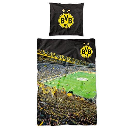 BVB Borussia Dortmund Südtribüne Bettwäsche 135x200 + 80x80 (Multi)