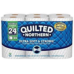 Quilted Northern Ultra Soft & Strong Toilet Paper, Bath Tissue Rolls, Double Rolls, 12 Count of 164