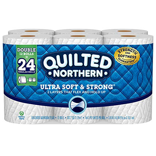 Quilted Northern Ultra Soft and Strong Toilet Paper, 12 Double Rolls = 24 Regular Rolls