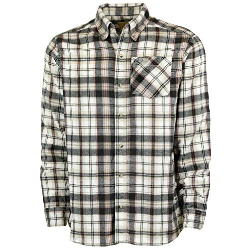 Mossy Oak Flannel Shirt for Men, Buffalo Plaid Long Sleeve Mens Flannel Shirts, Soft Flannels for men, a Traditional Look with New Age Comfort, Black Check, XX-Large (97221)