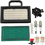 Dxent 499476S Air Filter with 808656 Fuel Pump 691035 Fuel Filter for Briggs and Stratton 499486 698754 691034 493629 Poulan Husqvarna 18HP - 26HP Lawn Mower Tractor Snow Blower