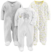 Carter's Baby Simple Joys Baby Schlaf- und Spielset, 3 Stück ,Elephant/Stripe/Giraffe ,3-6 Months