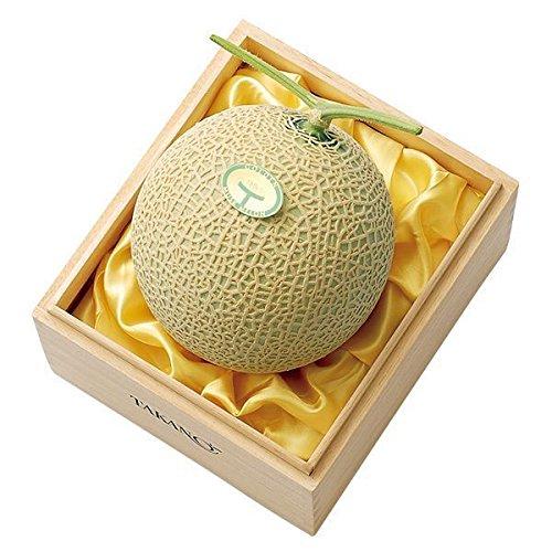 新宿高野 マスクメロン1個入B (静岡産) フルーツ ギフト [内祝い/引出物/贈答用] 果物 デザート #11020