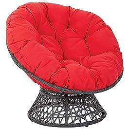 Coussin chaise Papasan, coussin siège chaise soucoupe épaisse et respirante avec sangle fixe, coussin chaise confortable…