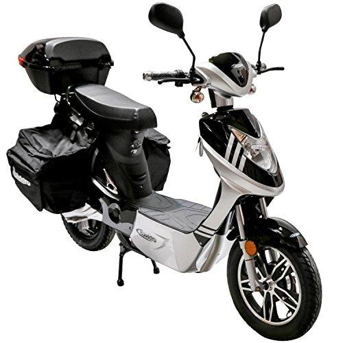 Rolektro eco-City 20 V.2 Plus Schwarz-Silber Elektroroller 20 Km/H Straßenverkehrszulassung 500W Keine Helmpflicht…