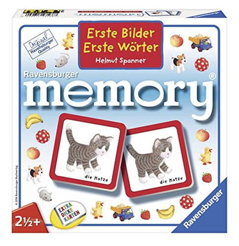 Ravensburger Buchverlag 43568 Bilder-Erste Wörter Memory Kinderspiel, Grey