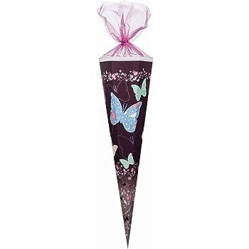 Nestler Schultüte 85cm eckig Schmetterling Zuckertüte Schulanfang Einschulung