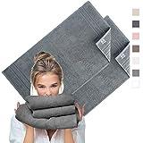 sei Design Frottee Badetücher-Set Aqua Fibro   2er Pack   100% Ägäis Baumwolle, 70 x 140, Taupe