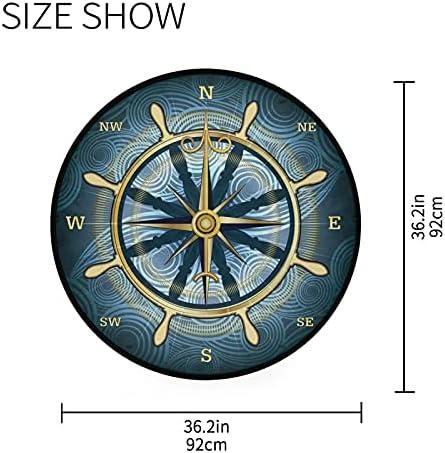 Round compass rug _image1