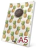 "TULPE Punktraster Notizbuch: Ca. A5 ""C092 Hipster Ananas"" (Vintage Softcover, Register, Punktpapier - Bullet Journal, Kalligraphie Übungsheft,..."