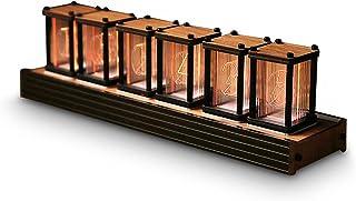 6桁 RGB LED チューブクロック DIYUSB デスクシェルフクロック 非ニキシー管春学期ギフト プレゼント完成品