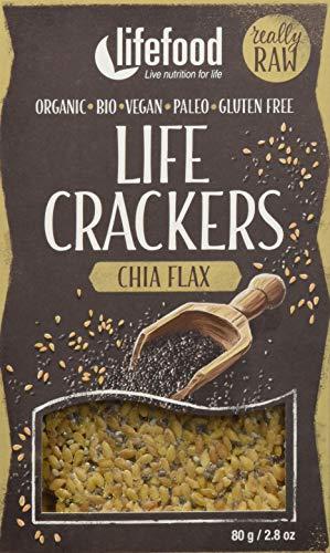 lifefood Crackers Chia Leinsamen - 8 Packungen à, 640 g