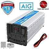 GIANDEL 4000W Heavy Duty Pure Sine Wave Power Inverter DC12V to AC120V with 4 AC Outlets with Remote Control 2.4A USB and LED Display
