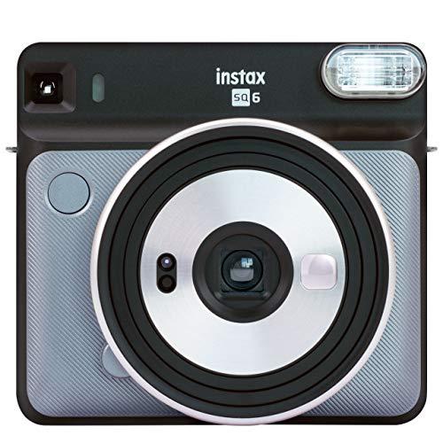 Fujifilm Instax SQ6 - Cámara analógica instantánea Formato Cuadrado, Color Gris (Grafito)