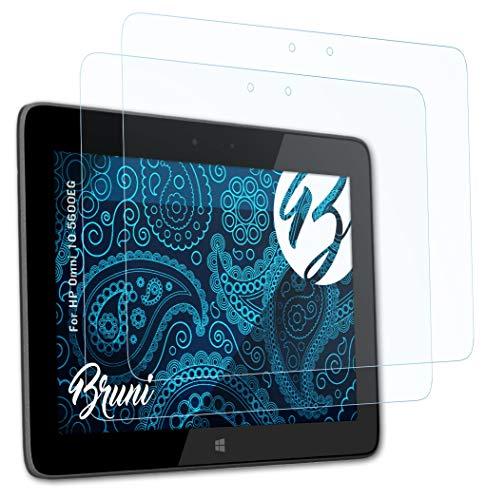 Bruni Schutzfolie kompatibel mit HP Omni 10 5600EG Folie, glasklare Bildschirmschutzfolie (2X)