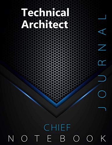 """Chief Technical Architect Journal, CTA Notebook, Executive Journal, Office Writing Notebook, Daily Decisions & Action Items Notebook, 140 pages, 8.5"""" x 11"""", Glossy cover, Black Hex"""