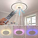 XIYUN Ceiling Fan with Lights,Remote Control 3 color...