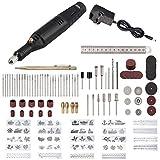 Justech 130PCs Kit de Herramientas de Grabado Ajustable de Velocidad Grabador para Tallar con 30 Bits y 24 Plantillas de Pintura para DIY Pulido Grabado Lijado de Metal Madera Cerámica