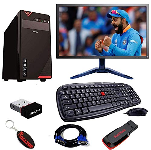 "Rolltop® Assembled Desktop Computer, Intel Dual Core 2.6 Ghz Pentium Processor, H61 Motherboard, 15.4"" LED Monitor, 4 GB DDR3 RAM, 16 GB Pen Drive Windows 10 Professinal Trial"