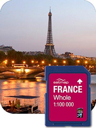 Satmap Fr-cy-100-sd-001 Système GPS Carte de la France (Entier, 1 : 100000 IGN)