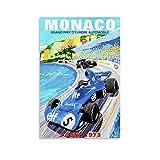 1973 Monaco Grand Prix Poster auf Leinwand, Kunstdruck und