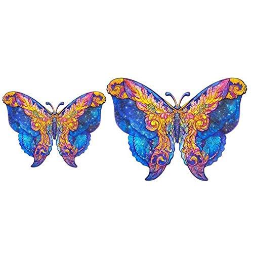Holzpuzzle Erwachsene, Weihnachtspuzzle Kinder, Wooden Jigsaw Puzzle Schöner Schmetterling, Puzzleteile Holz