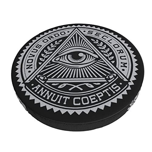 Eye On The Triangle - Funda de cojín redonda para silla de bar, cafetería, hotel, oficina