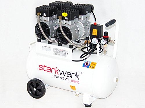 Starkwerk SW 457/8 Ölfrei 50L Kessel Flüsterkompressor - 3