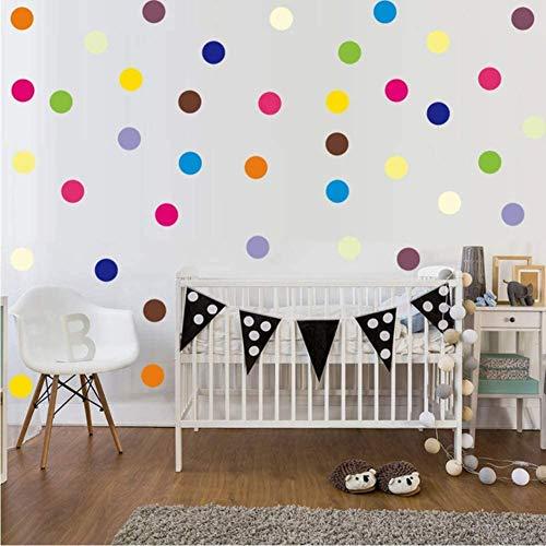 120Pcs Bunte Polka Dot Vinyl Aufkleber Abnehmbare Kreis Rundes Muster Wandtattoo Diy Kunst Wandbild Für Babyzimmer Home Decor 5 * 5 Cm